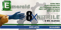 Emerald 8X Powder-Free Nitrile Exam Gloves – 8 Mil