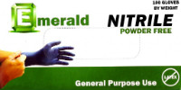 Emerald General Purpose Powder-Free Nitrile Gloves