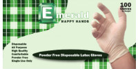 Happy Hands Powder-Free Latex Gloves – 4 Mil